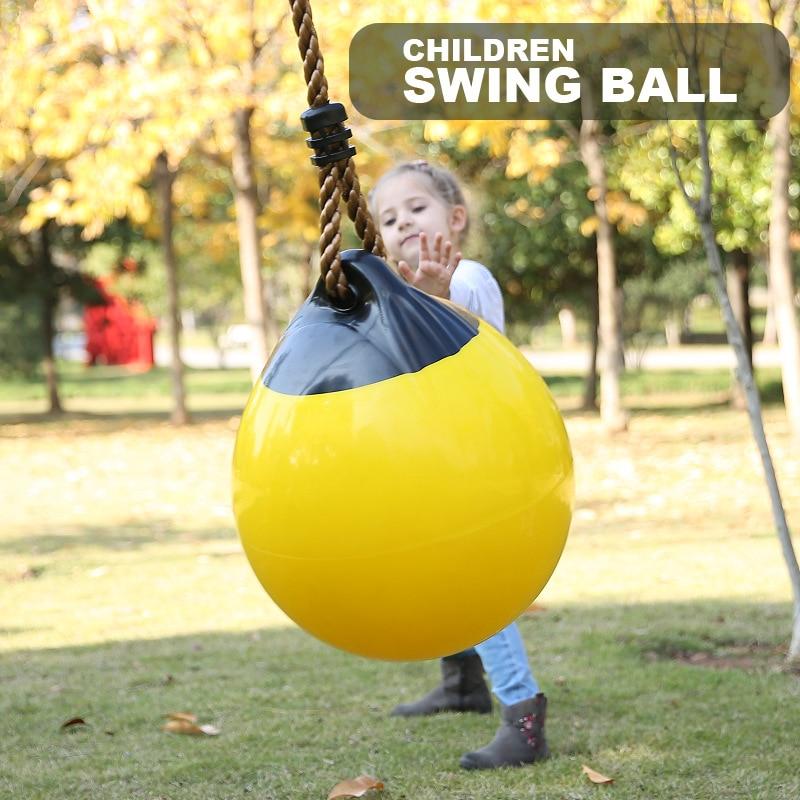Children Inflatable Ball Swing  Spherical Swing Games Toys  Indoor Outdoor Sports Accessories  Garden Playground Backyard Swing