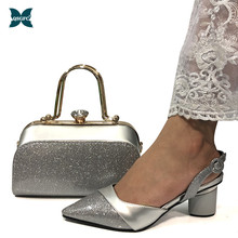 Comfortable Heels Sandals Women Shoes Silver-Color Nigerian Italian Wedding To Match