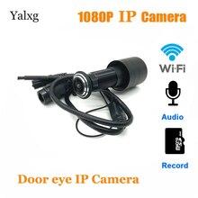 1080P bezprzewodowy dostęp do internetu wizjer otwór domu Mini wizjer IP obiektyw do aparatu rybie oko bezprzewodowy czujnik ruchu wideo karta tf do aparatu/Audio obsługiwane
