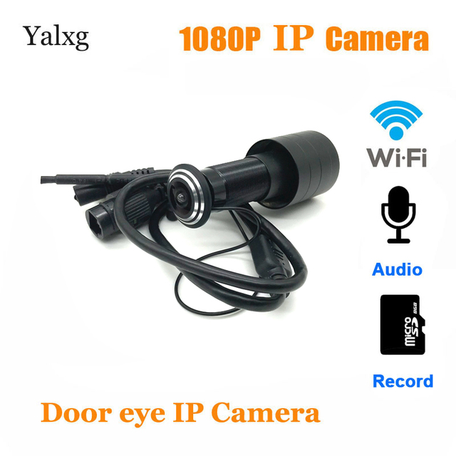 1080P wi fi Door Eye Hole Home Mini Peephole IP Camera Fish eye Lens Motion Sensor Wireless Video Camera TF Card/Audio Supported