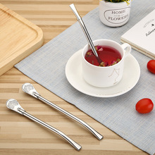 Stainless Steel Straws Metal Filter Reusable Drinking Straw Coffee Stir Eco-Friendly Bombilla Tea Tools Bar Accessories
