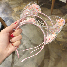Children Lace Hairband Cat Ear Cute Girl Fairy Headband Hair Accessories Women Hoop Fashion Kids Headwear Headdress