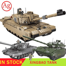 XINGBAO Military Leopard 2 Tank Set Building Blocks Technic Compatible Legoed Tank WW2 Army Soldier Toys Main Battle Bricks(China)