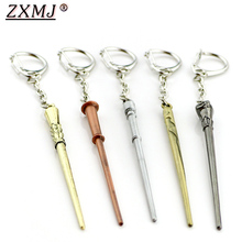 Keychain Keyring Potters Harried Charm Gift Alloy Women ZXMJ for And Fans 9-Colors Magic-Wand