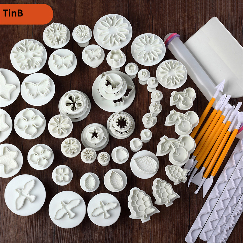 68pc/lot Sugarcraft Cake Decorating Tools Fondant Plunger Cookie Cutters Cake Tool Cookie Biscuit Cake Mold Bakeware Accessories