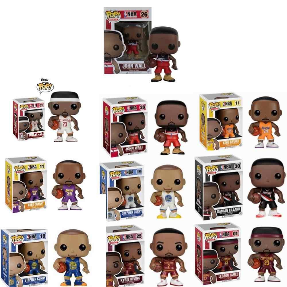 FUNKO POP Basketball star James Kobe Stephen Curry Kyrie Irving John Wand  Action Figure Sammeln modell Spielzeug für Fans Action & Spielfiguren