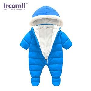 Image 3 - עבה חד חתיכות Romper עבור תינוק יילוד בתוך בתוספת קטיפה רך חורף פעוט סרבל תינוק פעוט בגדי גוף חליפה