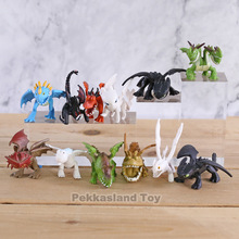 How To Train Your Dragon 3 Night Light Fury Toothless PVC Action Figures Cartoon Bezzubik Anime Figurines Dolls Kids Toys Set