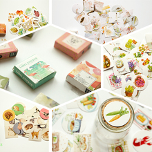 Kawaii Boxed Flowers Stickers Cute Cat Planner Scrapbooking Stationery Japanese Diary for Girl Escolar School Supplies