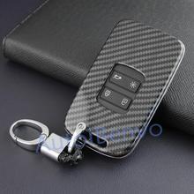 Автомобильный флип-ключ из углеродного волокна для Renault Koleos Kadjar Megane Espace брелок-Талисман Аксессуары