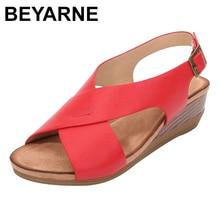 BEYARNE summer sandals for women 2020 new high heel gladiator sandals women open toe platform sandals ladies shoes sandalias
