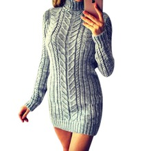 2019 autumn and winter sweater women long sleeve high collar twist Slim