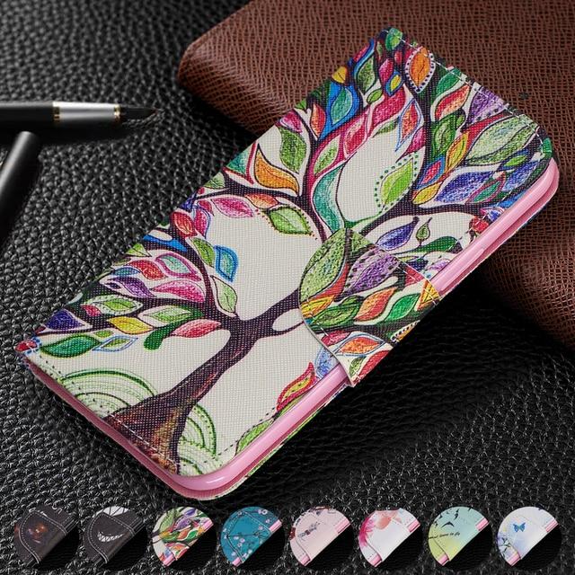 Funda de cuero tipo cartera con ranuras para tarjetas para Samsung Galaxy Note 10 Plus S10 S9 A70 A50 A40 A30 A20 A10 M10 M20 soporte magnético