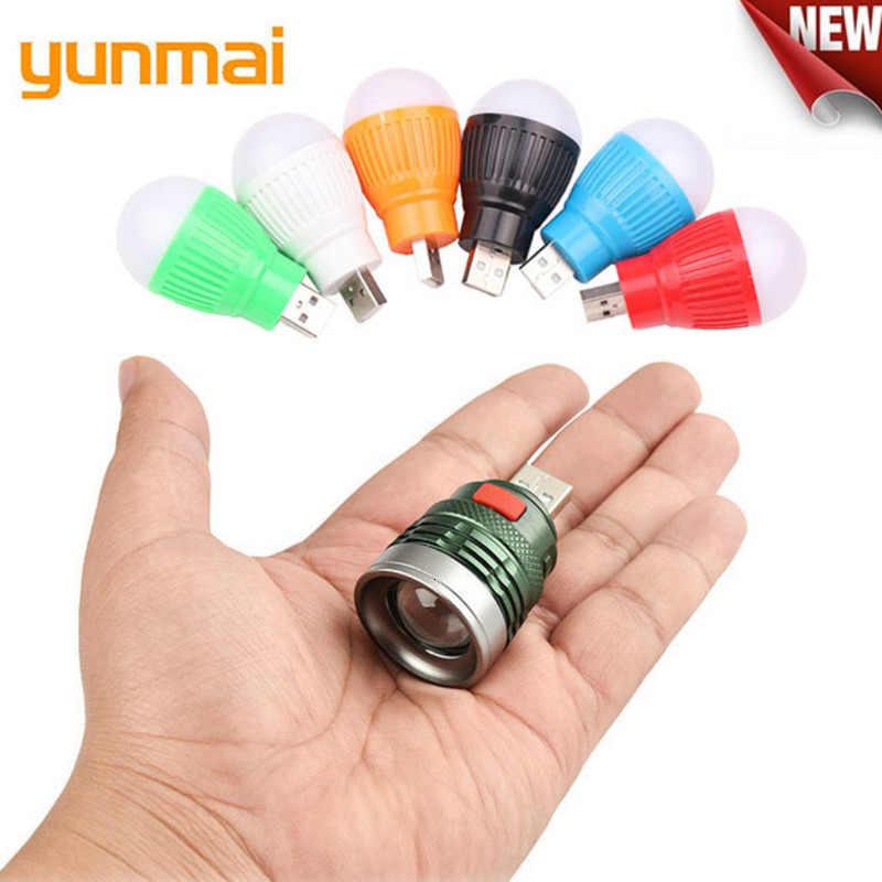 YUNMAI NEUE Mini Usb LED Taschenlampe 6 Farben Q5 Aluminium Arbeit Licht 800LM Wasserdicht Lanterna 3 Modi Tragbare LED Taschenlampe lampe