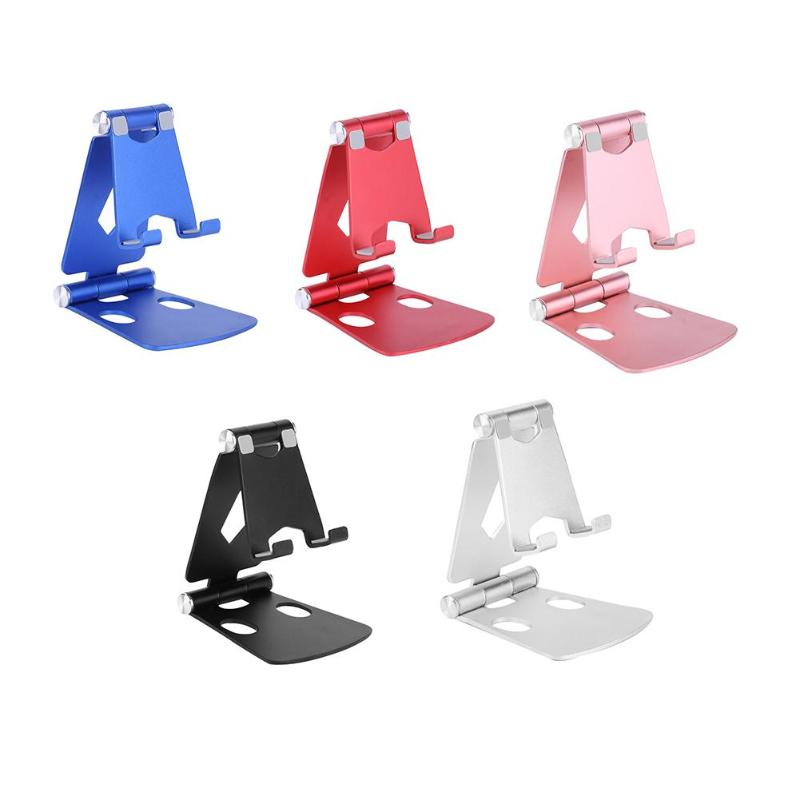 Aluminium Alloy Desktop Phone Stand Anti-fall Portable Mobile Phone Tablet Holder Mount Bracket For IPad IPhone Xiaomi Huawei