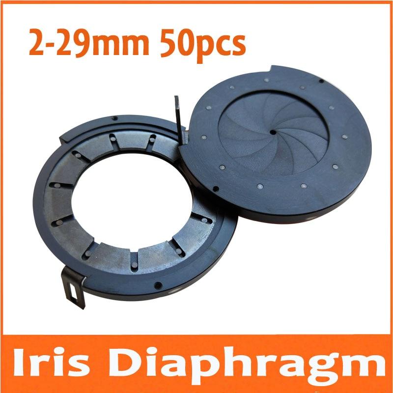 50 шт. 2-29 мм усилительный зум оптический Ирис конденсатор ирисовой Диафрагмы конденсатор 11 лопастей цифровая камера монитор микроскоп адаптер