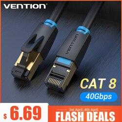 Vención de La Cat8 Cable Ethernet SSTP 40Gbps supervelocidad RJ45 Cable de red chapados en oro conector para Router Modem gato 8 Cable de Lan