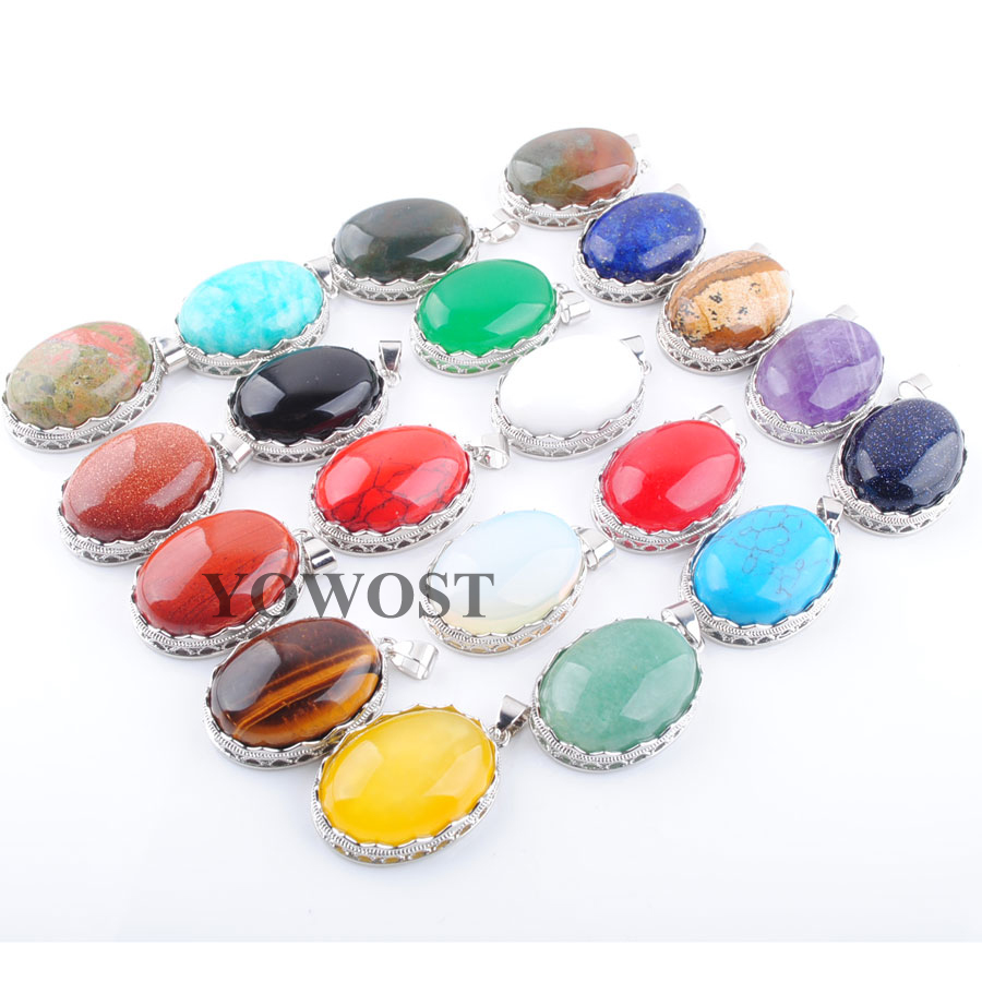 Long 24inch Natural Egg-shaped 13x18mm Pink Rose Quartz Gems Oval Beads Necklace