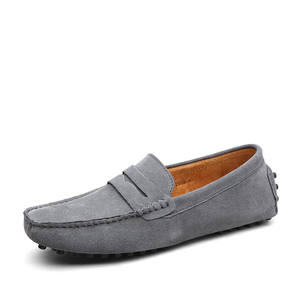 Shoes Men Flats Loafers Summer-Style Genuine-Leather High-Quality Fashion Soft Gommino