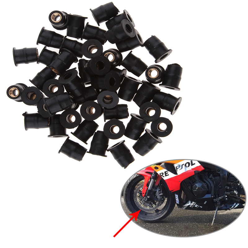 M5 Dirt Bike Windscreen Rubber Well Nuts Rivet Rub Nut Cavity Fairing Fixing