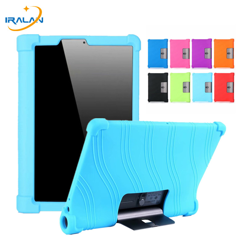 Soft <font><b>Case</b></font> for Lenovo Yoga Tab 5 YT-X705F 2019 <font><b>Tablet</b></font> Cover for Lenovo Yoga Smart Tab YT-X705F <font><b>Kids</b></font> Silicone <font><b>Cases</b></font>+Stylus pen image