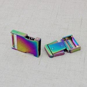 Image 5 - 5 10 30 pezzi 2.5 centimetri 1 inch Arcobaleno Collare di Cane Slider Fibbie, personalizzato fibbie a sgancio cinghia di regolazione