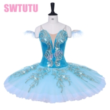New arrival women competiton performance ballet stage costumes green sleeping beauty variation professional tutu child BT9153B