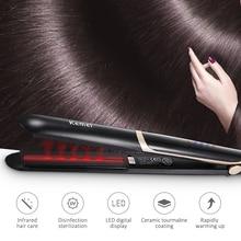 Fer à lisser en céramique à infrarouge, plat, pour lisser les cheveux, accessoire de beauté, 43