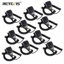 10pcs MK001 8pin walkie talkie microfono per Kenwood TK 868G TK 730 TK 760 TK 768 Radio Mobile C9198A