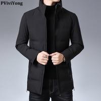 PViviYong 2019 high quality winter duck down jacket men, Mandarin Collar casual parka men coat 015399