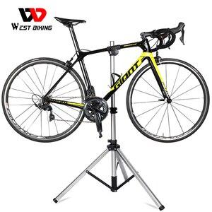 Image 2 - WEST BIKING профессиональная подставка для ремонта велосипеда MTB дорожный велосипед ремонтные инструменты Регулируемая Складная Подставка для хранения