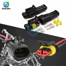 цена на 2 Pin 1/2/3/4/5/6 pins Way Super Seal Waterproof Electrical Wire Connector Plug for Car Waterproof Plug Connector