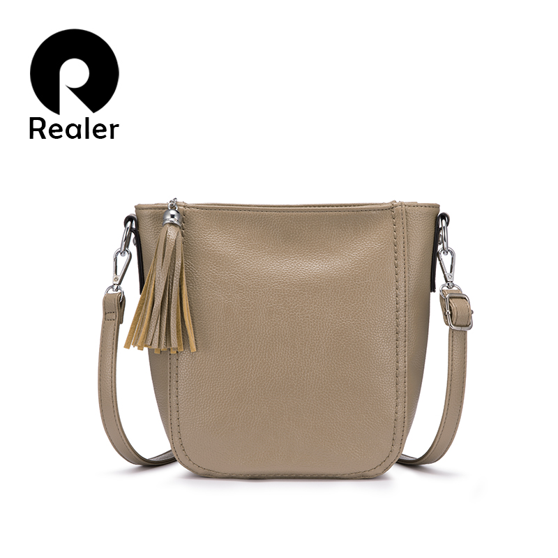REALER Women Bag Female Shoulder Bag Ladies Messenger/crossbody Bags For Women 2019 Luxury Handbags Women Bags Designer Bucket