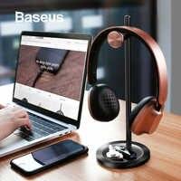 Baseus regulowany uchwyt na słuchawki modny wzór metalowy stojak na słuchawki stojak na słuchawki podstawka biurowa wieszak