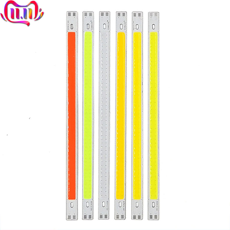 200x10mm 12V LED COB Bulb LED Bar Lights 10W 20CM Strip For Car Decor DRL Lights Work Lamp Readling Bulb DIY DC12V 1000LM