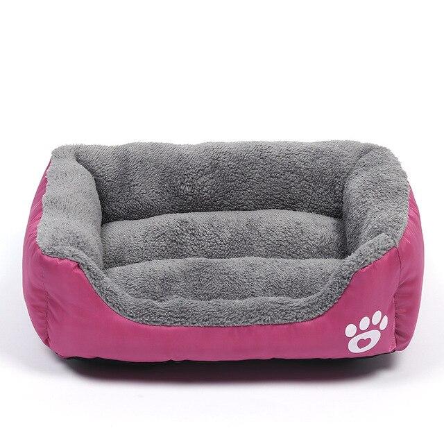 Pluche Comfort hondebed - kleur roze 1