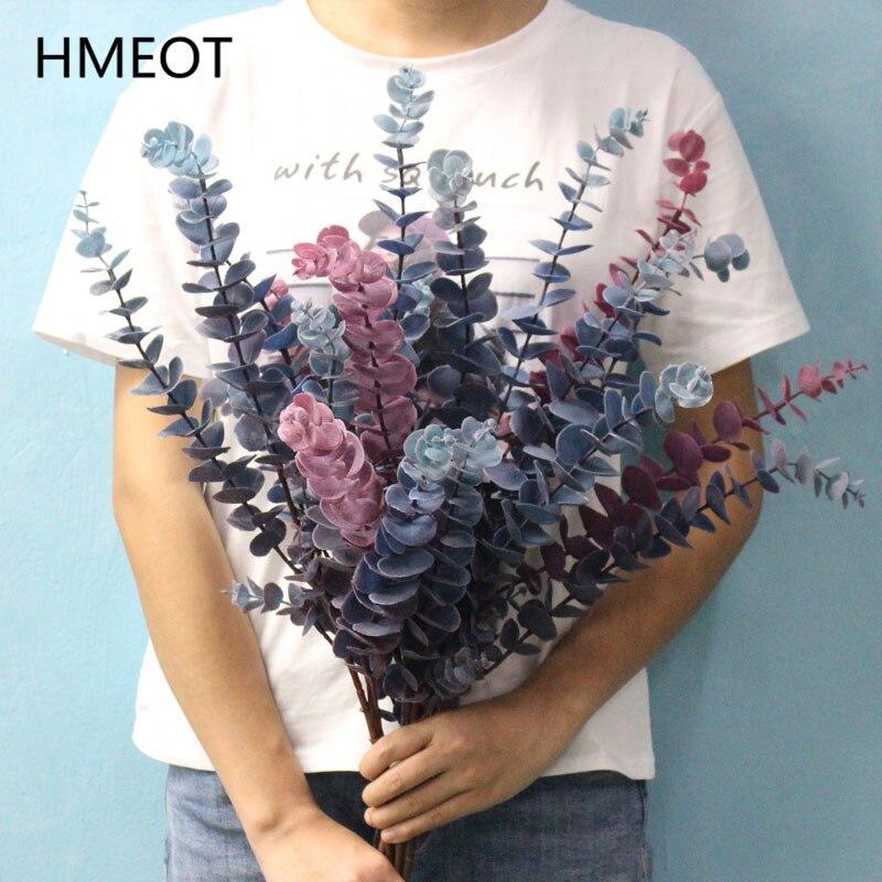 HMEOT simulation gefälschte pflanzen blatt big größe zweig Eukalyptus blätter Hochzeit weihnachten familie party decor künstliche blumen