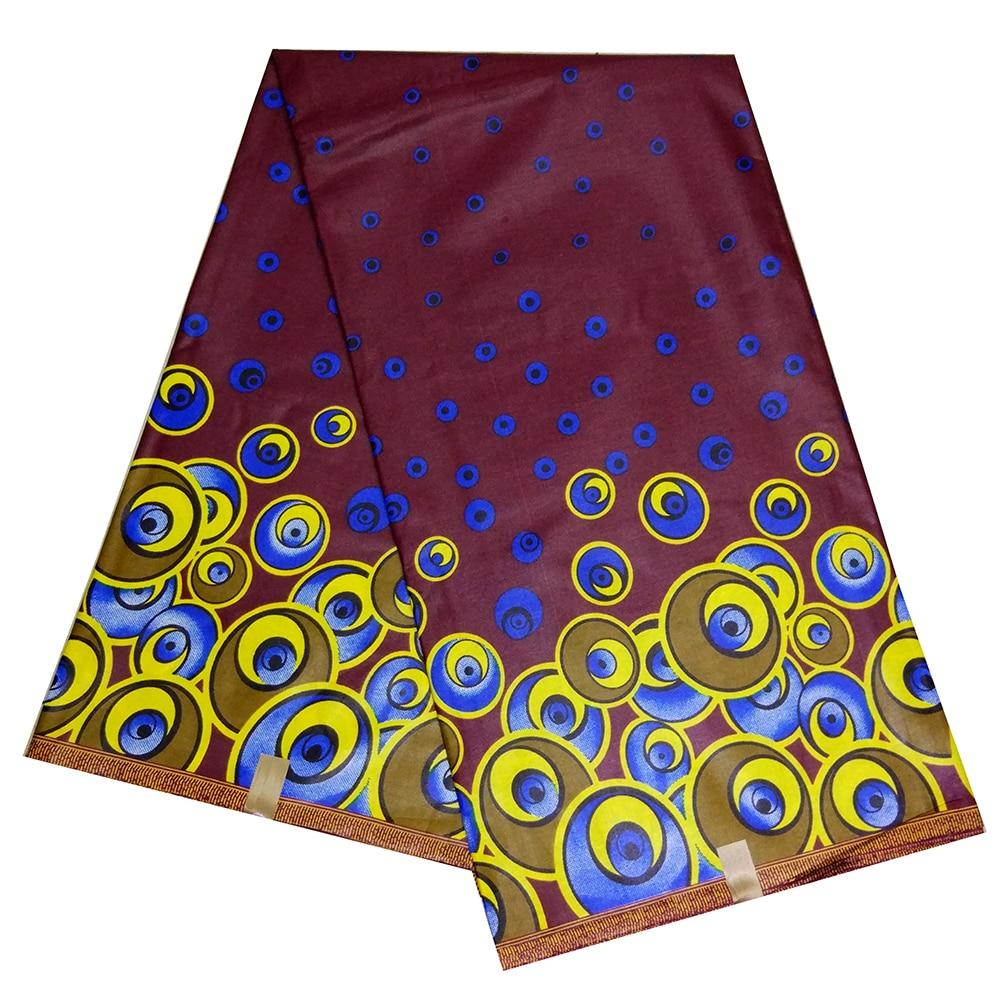 2019 NEW Design High Quality Dutch Wax African Wax Print Fabric For Women Party Dress