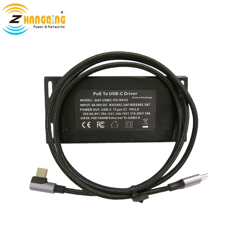 PoE To USB-C Charger Splitter Transfer Power & Data With USBC Cable Work For Tablet  Microsoft Surface Go Samsung Galaxy Tab, Et
