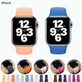 Ремешок силиконовый для Apple Watch Band 44 мм 40 мм, резиновый браслет для iwatch 42 мм 38 мм 44, Apple Watch 4 3 5 6 SE
