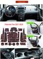 Puerta ranura Mat para Chevrolet Trax rastreador Holden 2013, 2014, 2015, 2016 MY13 MY14 MY15 MY16 Chevy accesorios Anti-Slip Mat de puerta