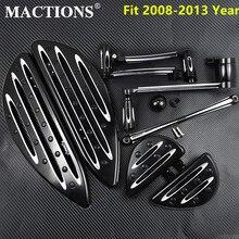 Front+Rear Floorboards Kits Shift Lever Brake Shift For Harley Touring Street Glide Road King Electra Glide Tri Glide 2008 2013
