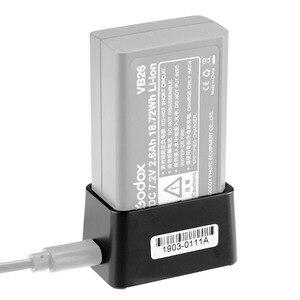 Image 2 - Godox Fotografia VC26 USB Battery Charger DC 5V Ingresso Uscita 8.4V DC per la Ricarica Godox V1S V1C V1N /F Testa Rotonda Della Batteria del Flash