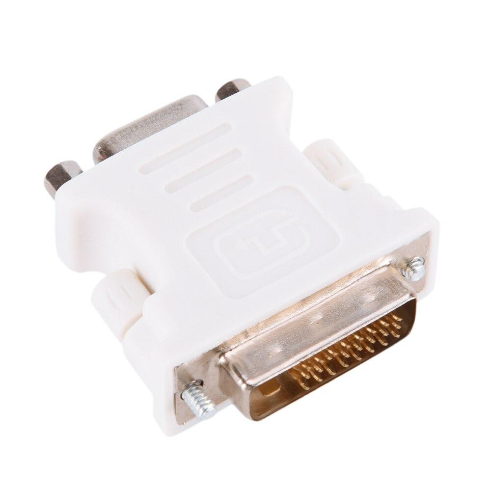 DVI 24 + 1 Pin DVI-D-D-M для VGA-F адаптер видео монитор компьютера Адаптер-25 Pin (Dual Link) DVI-D мужчина до 15 Pin VGA Новинка; для женщин