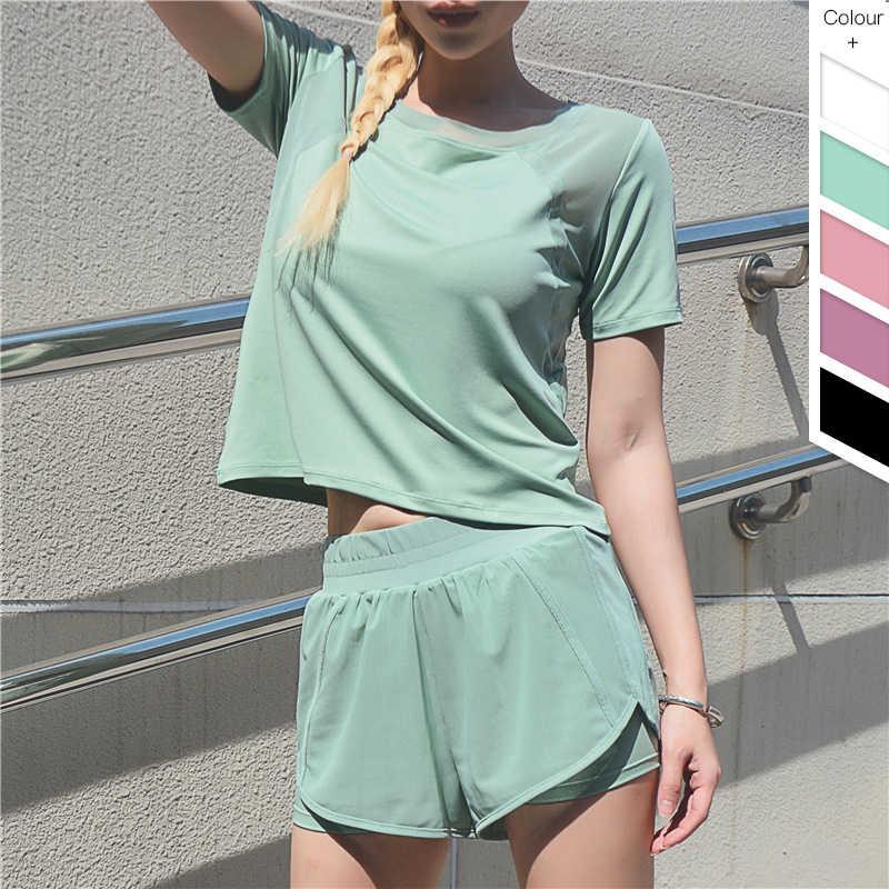 Vrouwen Sport Top Yoga Top Crop Korte Mouw Sport T-shirt Gym Kleding Yoga Shirts Workout Tops Voor Vrouwen Fitness