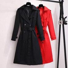 Autumn Trench Coat Women Plus Size Coat Women 2019 Autumn New Windbreaker Korean