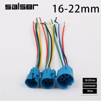 Złącze do 16 19 22mm metalowy przełącznik wciskany akcesoria drutu połączenia wtykowe gniazdo tanie i dobre opinie SBLSBR CN (pochodzenie) Metal push button switch accessory