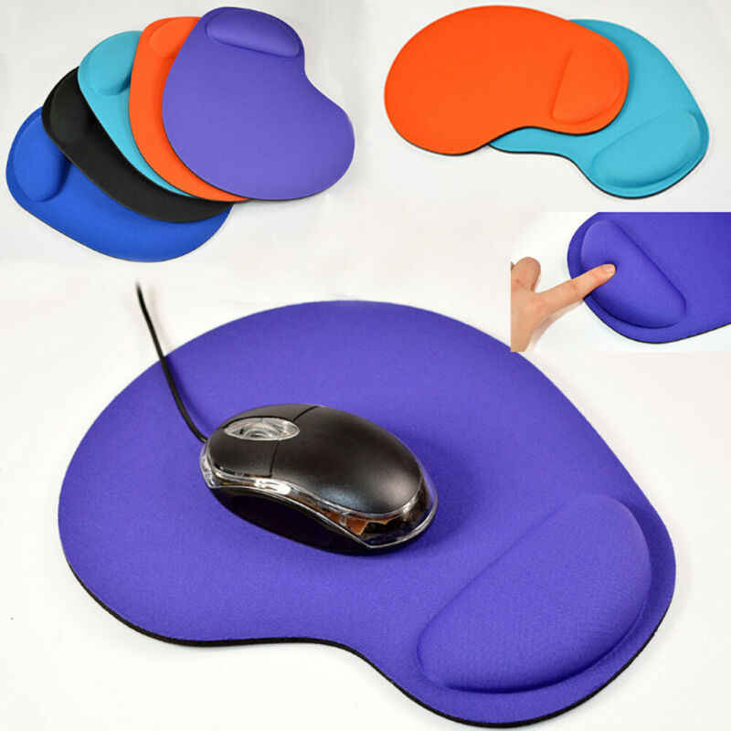 Tapete de mouse anti-deslizamento, suporte de pulso para pc, macbook, laptop