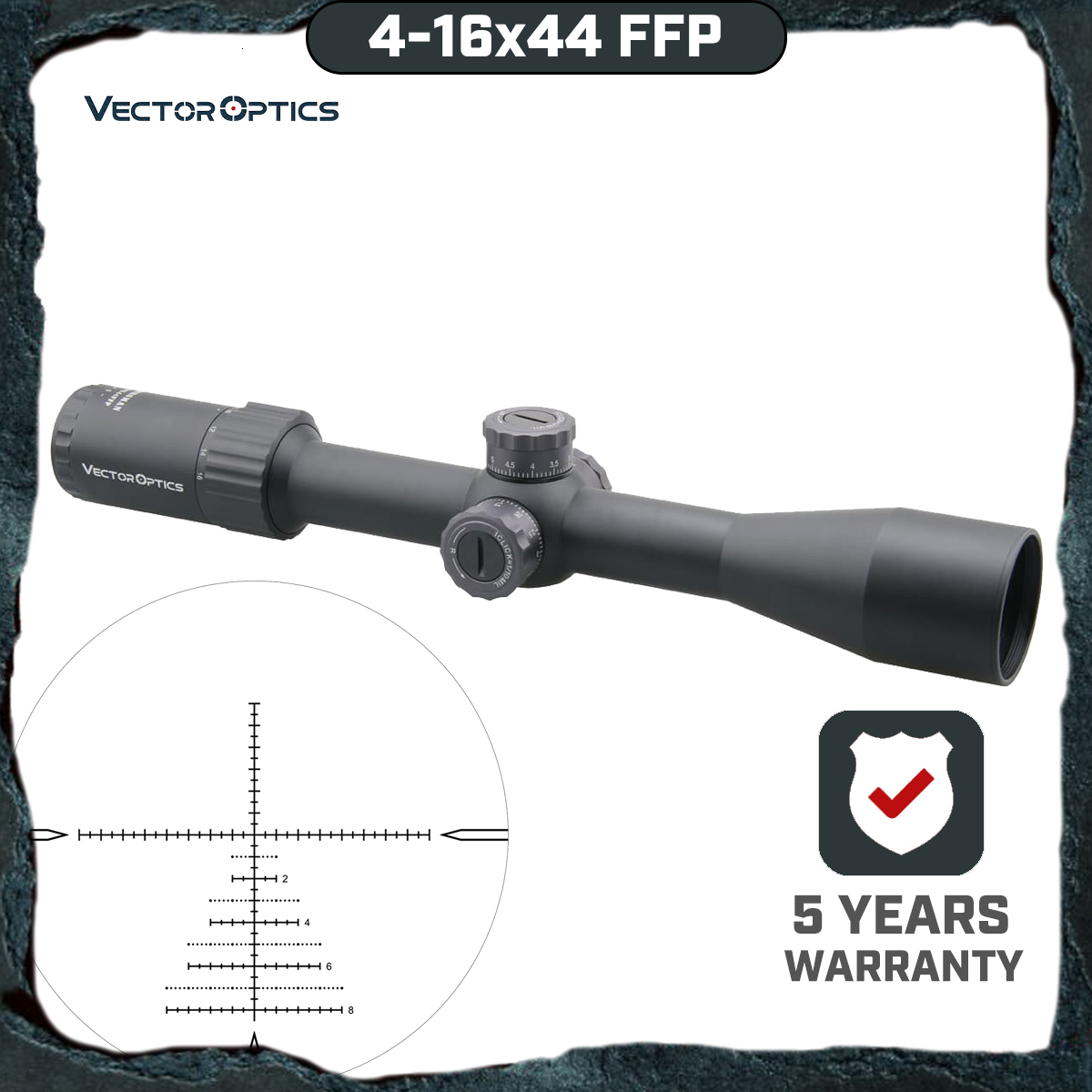 Vector Optics Marksman 4-16x44 FFP Tactical Rifle Scope 1/10 MIL First Focal Plane Sniper Hunting Riflescope Shock Proof .338