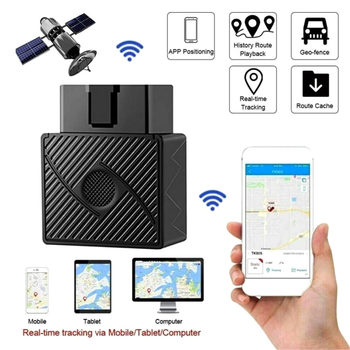 OBD II GPS Tracker 16PIN OBD Plug Play Car GSM OBD2 Tracking Device GPS locator OBDII with online Software IOS Andriod APP image